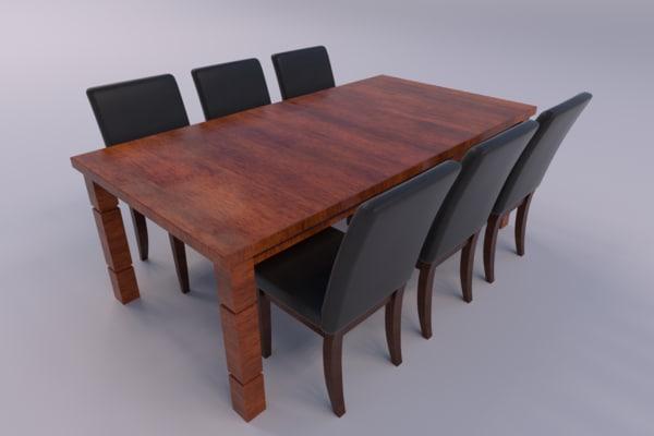 3ds dining room set