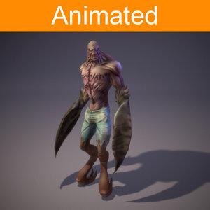 3d mutant cockroach model