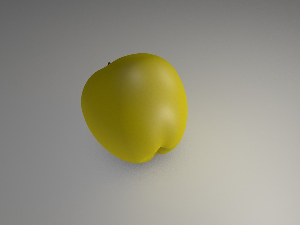 apple green 3d c4d