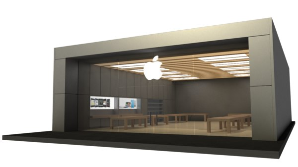 3d apple store v4 model