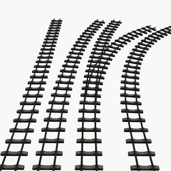 railway tracks 3d model