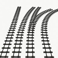 Modular Railway tracks low poly