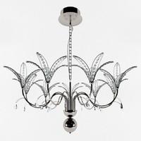 3d model dolcevita chandelier chrome