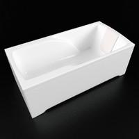 3d model of duravit bath