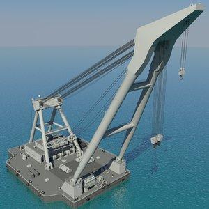 floating crane 3d max