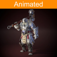 fbx character bear animations