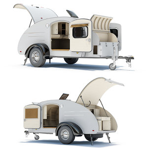 teardrop trailer interior 01 3d 3ds