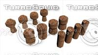 3d model corks 3