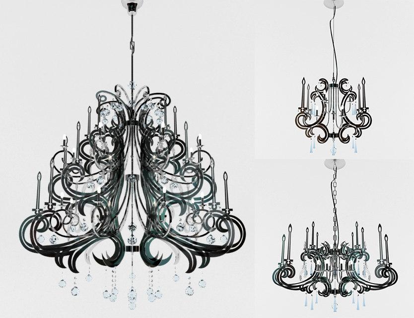 flos chandelier 3ds