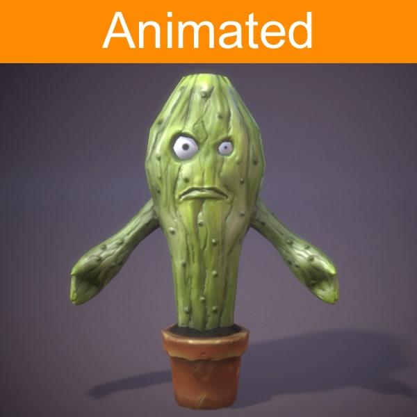 character cactus 3d fbx