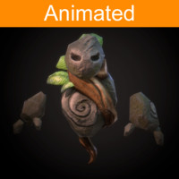 character flying golem 3d model