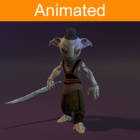 3d forest guard character model