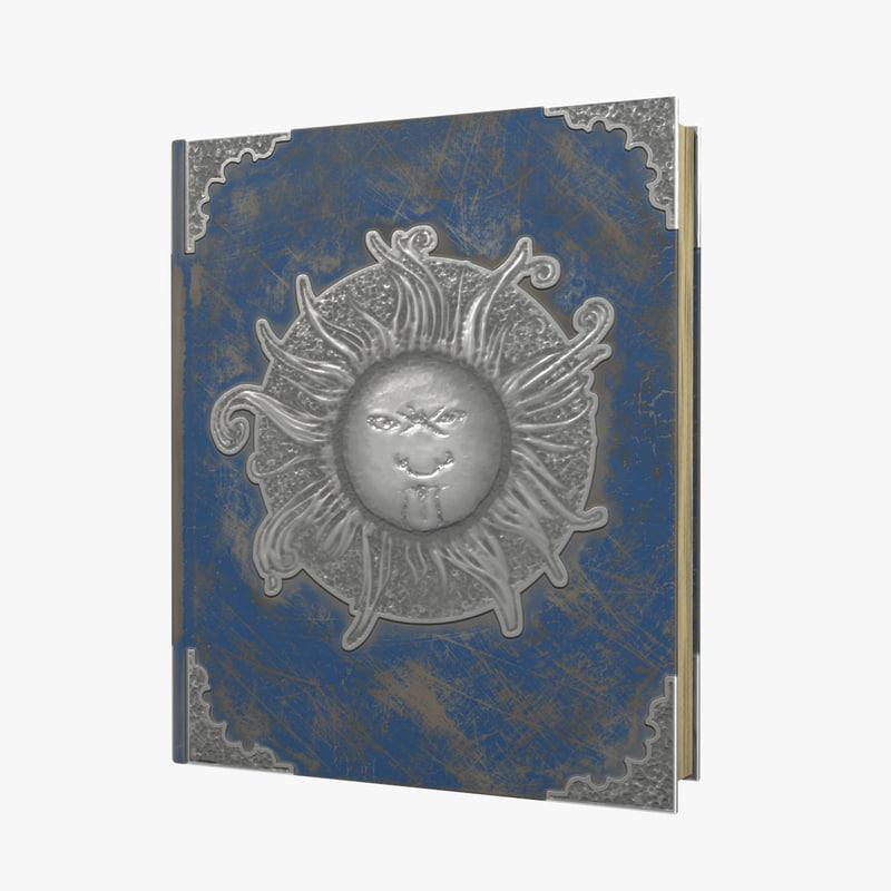 sun book 3d model
