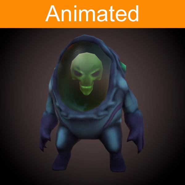 3d model of character alien