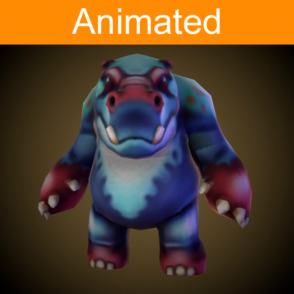 fbx character hippo