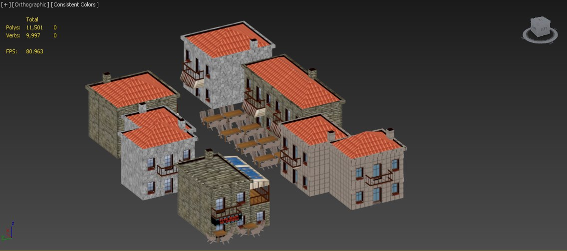 medieval european buildings pack 3d max