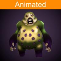 character fat 3d fbx