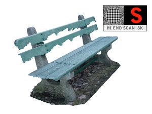 old frozen bench scan obj