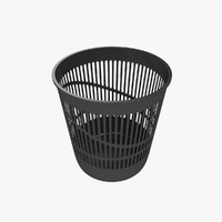 3d model trash bin