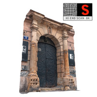 3d old city gate 8k