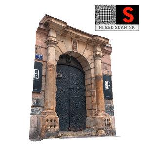 3d old city gate 8k