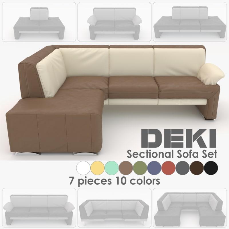 couch set sections deki obj