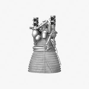 j-2 engine 3d model