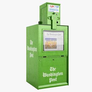 newspaper box 3d model
