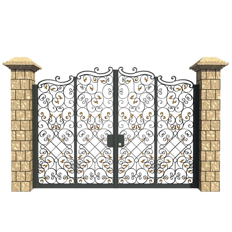 metal gate 3d max