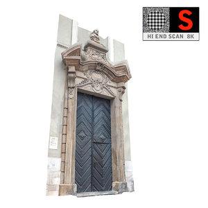 old city gate 8k 3d model