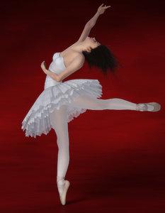 nova ballerina - girl face 3d max