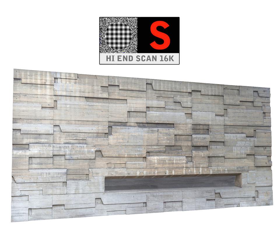 bunker concrete facade 16k 3ds