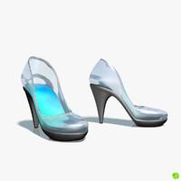 shoe glass 3d obj