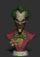joker bust ztl 3d obj