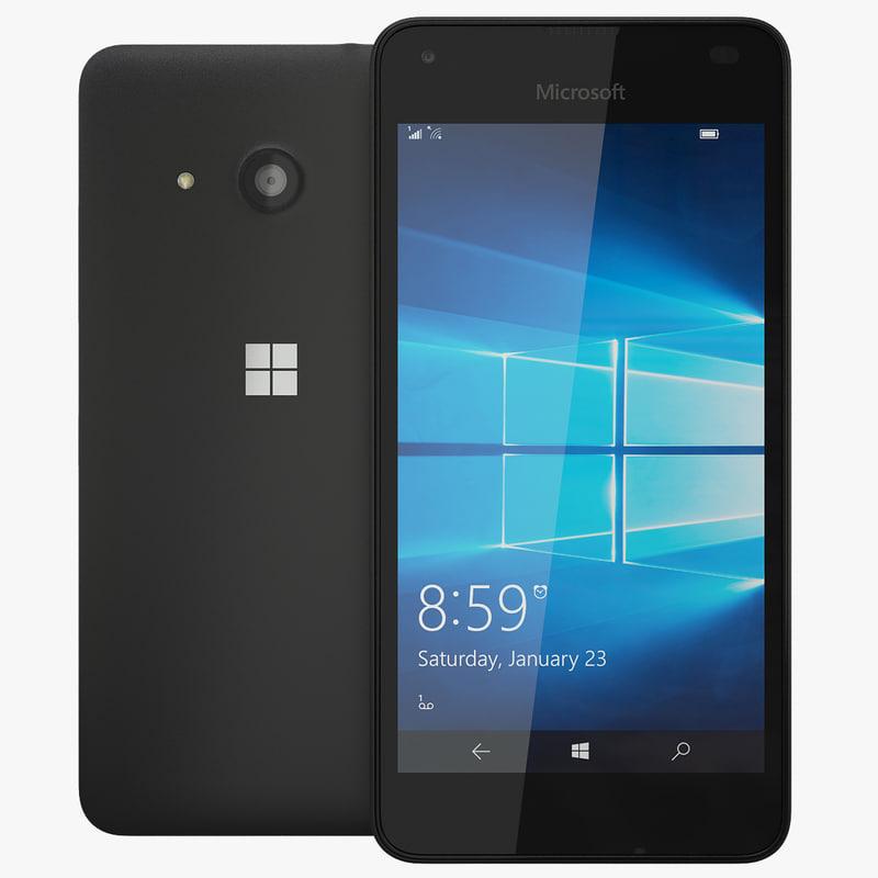 3d model realistic microsoft lumia 550
