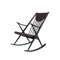 3d midcentury sculpted rocking chair