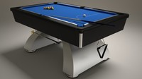 3d modern pool table