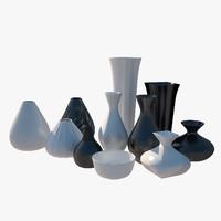 free max mode vases black white