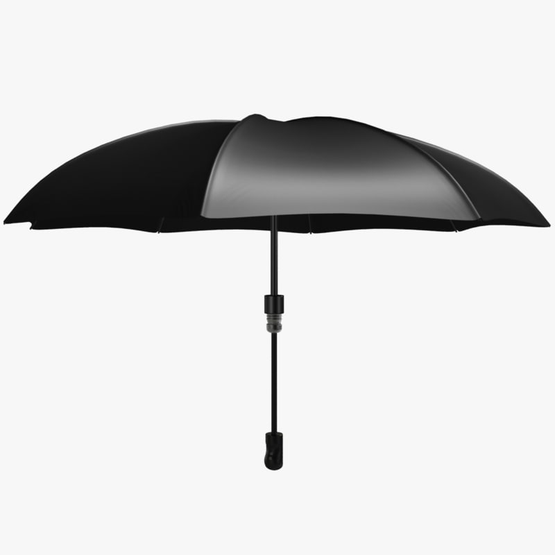 umbrella black 3d model