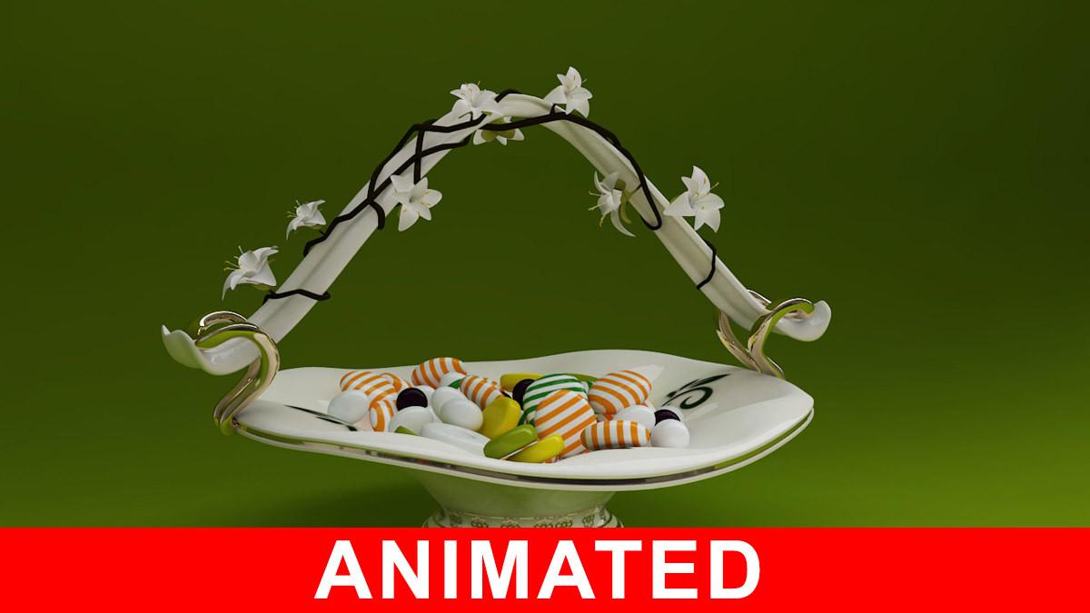 3d model sugar bowl flower