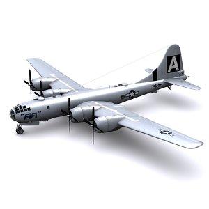 superfortress bomber fifi 3d model
