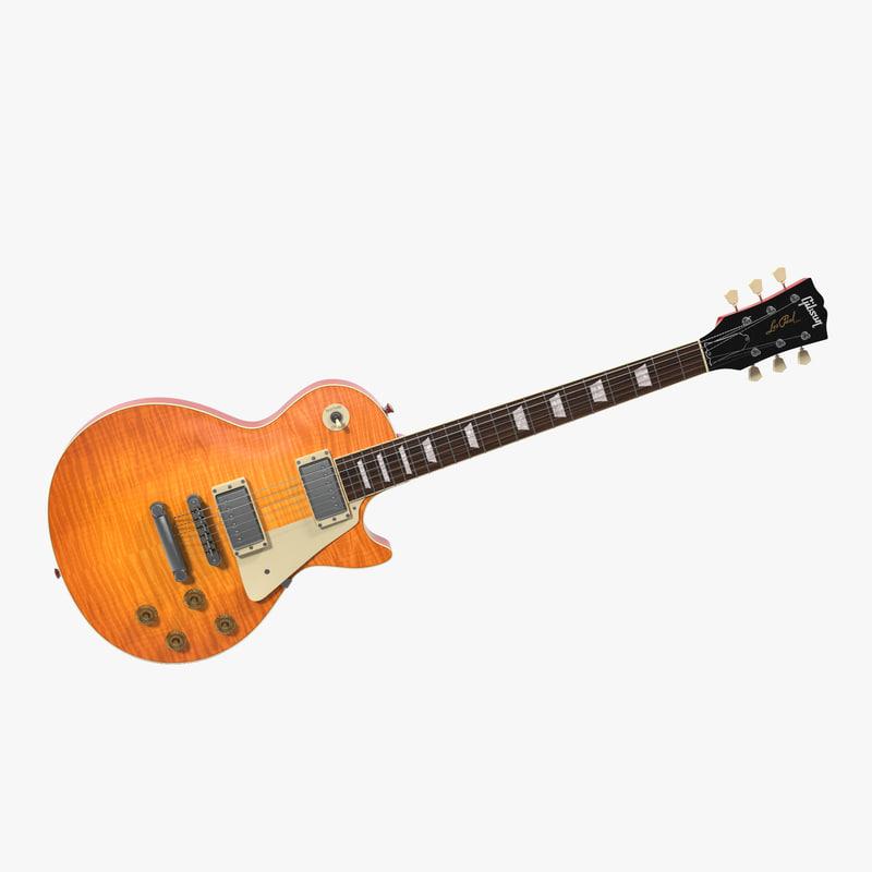 electric guitar 2 3d max
