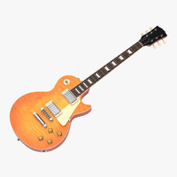 3d model electric guitar 2 generic