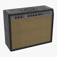 retro guitar amp 3d 3ds