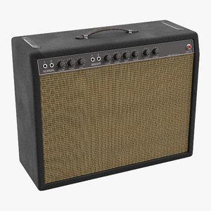 retro guitar amp 3d 3ds