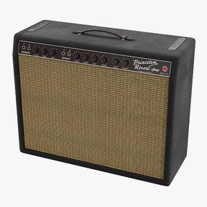3d vintage 1963 princeton guitar amp