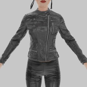 3d leather jacket