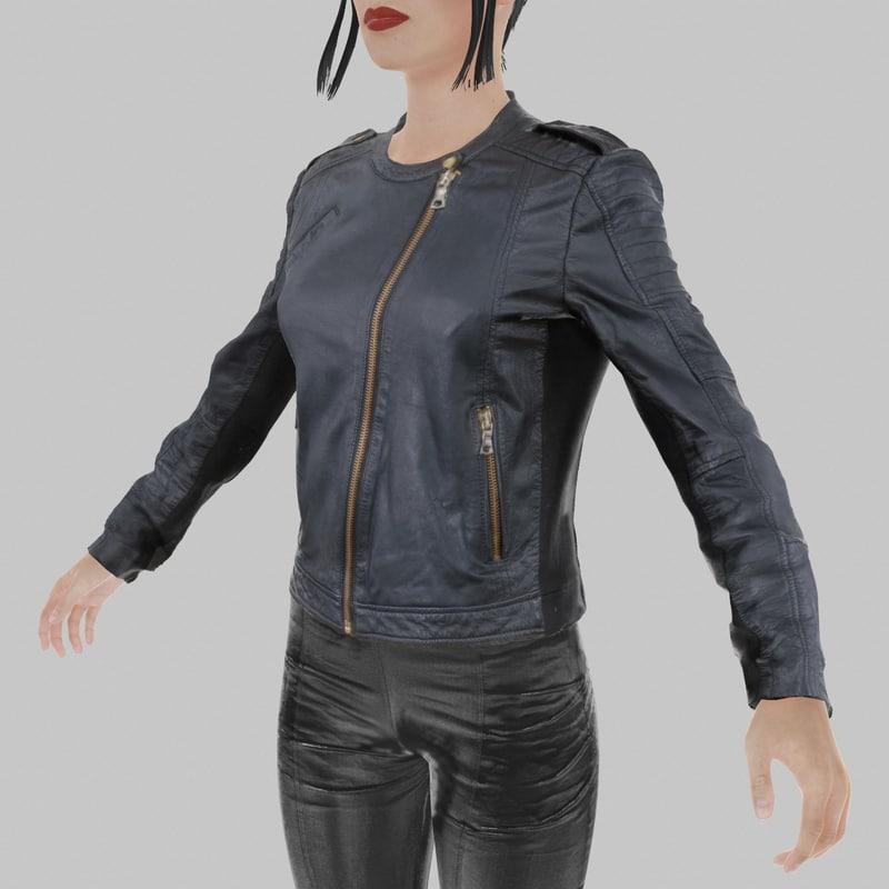 leather jacket obj