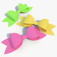 paper bow 3d model