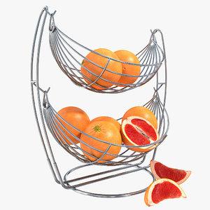 3d vase grapefruit model